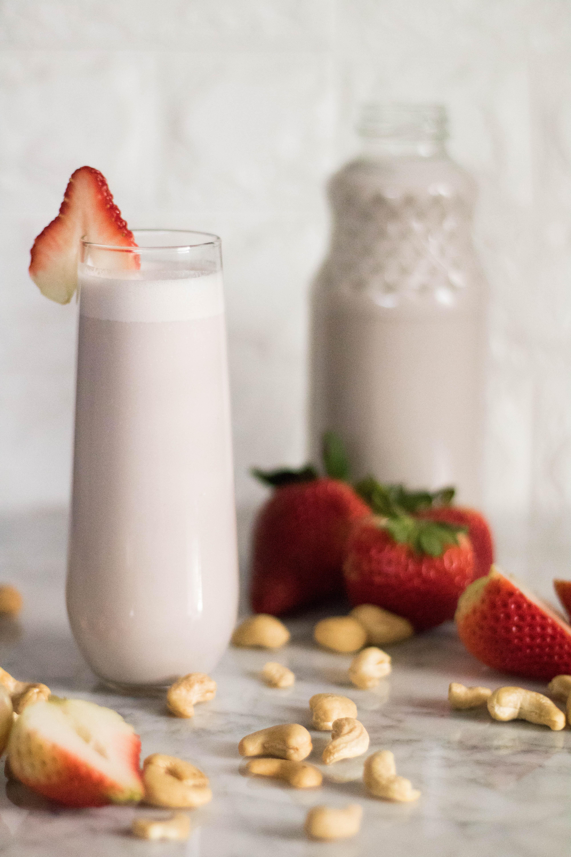 No sugar added 20 minute strawberry nut milkd