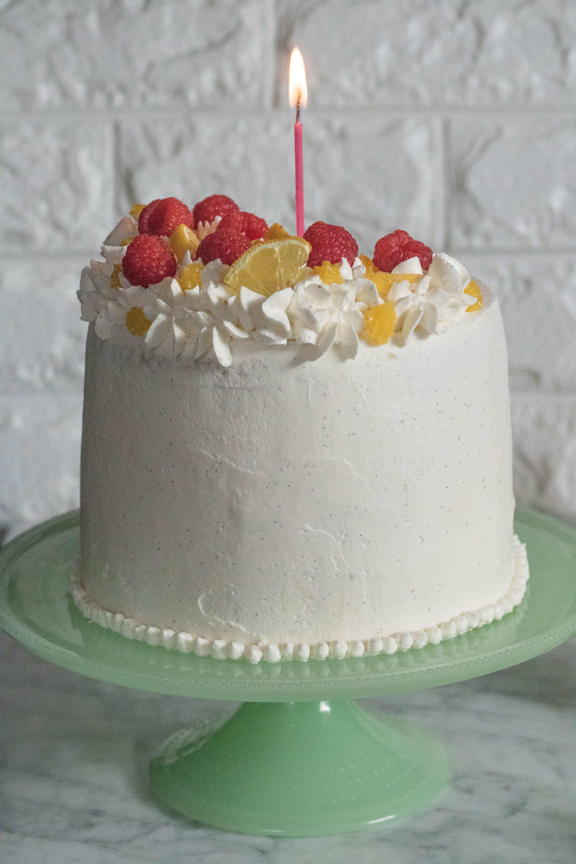 One year anniversary blog post, lemon curd vanilla cake recipe