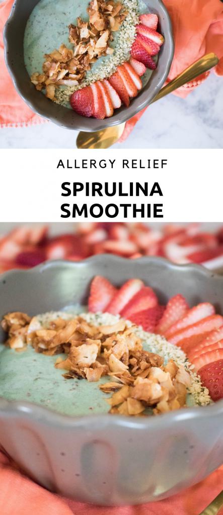 Spirulina allergy smoothie bowl