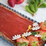 Strawberry lemon vegan tart