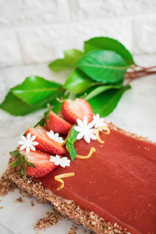 Lemon Strawberry Vegan Tart