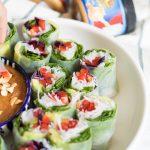 Summer fresh spring rolls