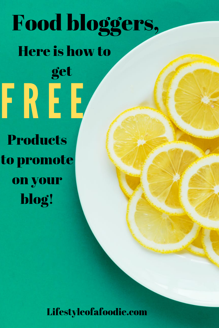 Food bloggers! here is how you can get free things to promote on your blog too! how to post for pinterest