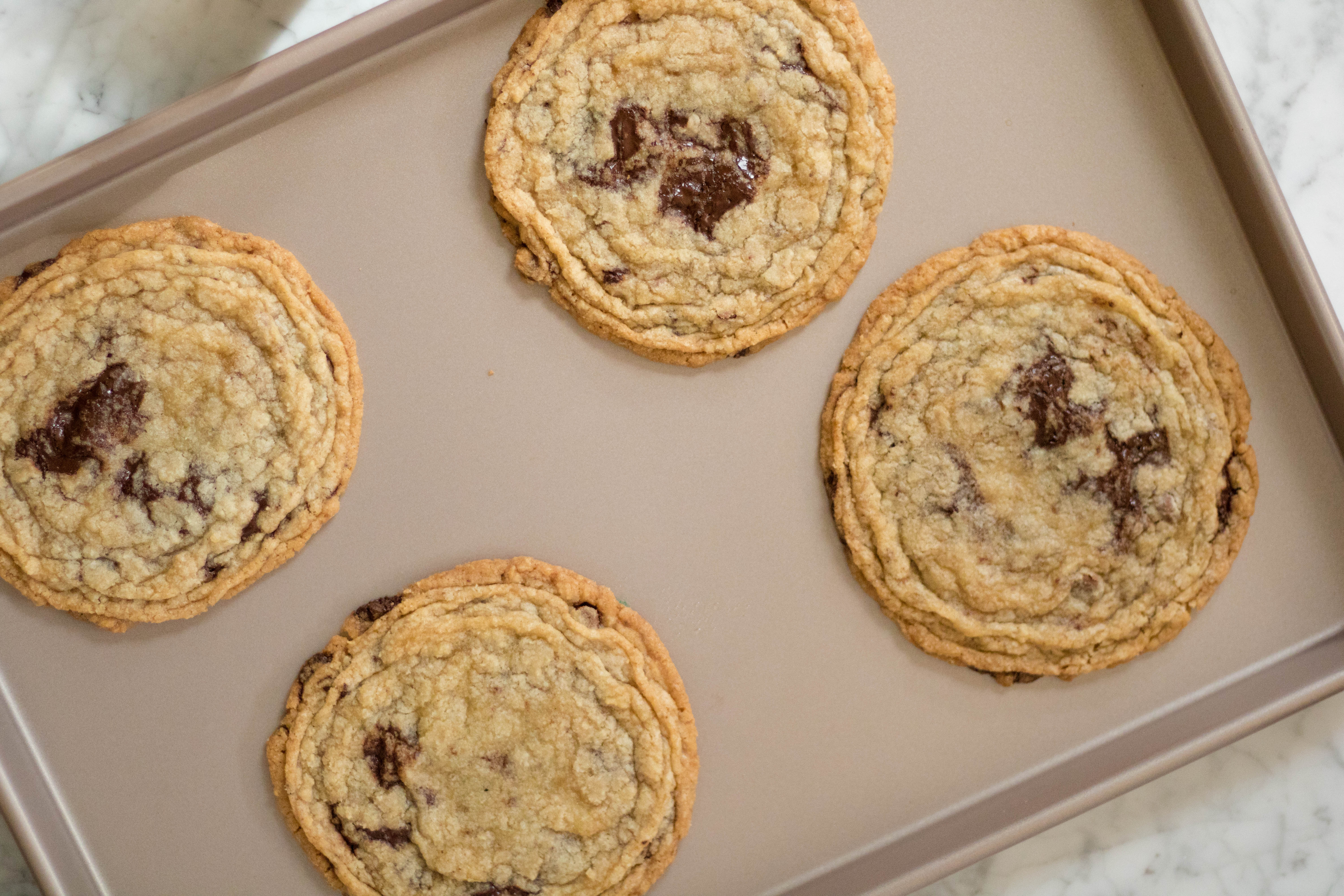Sarah Kieffer's pan bangin cookie, Internet famous chocolate chip cookies