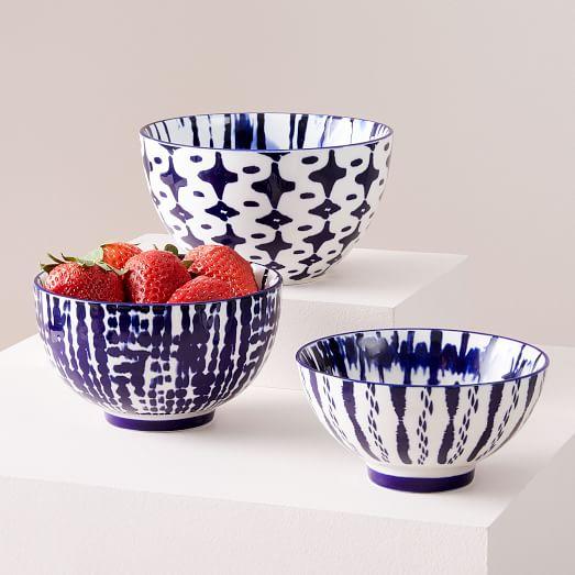 Fabfitfun indigo tie-dye nesting bowls