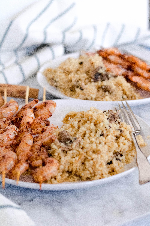 Healthy Baked Cinnamon Shrimp Skewers