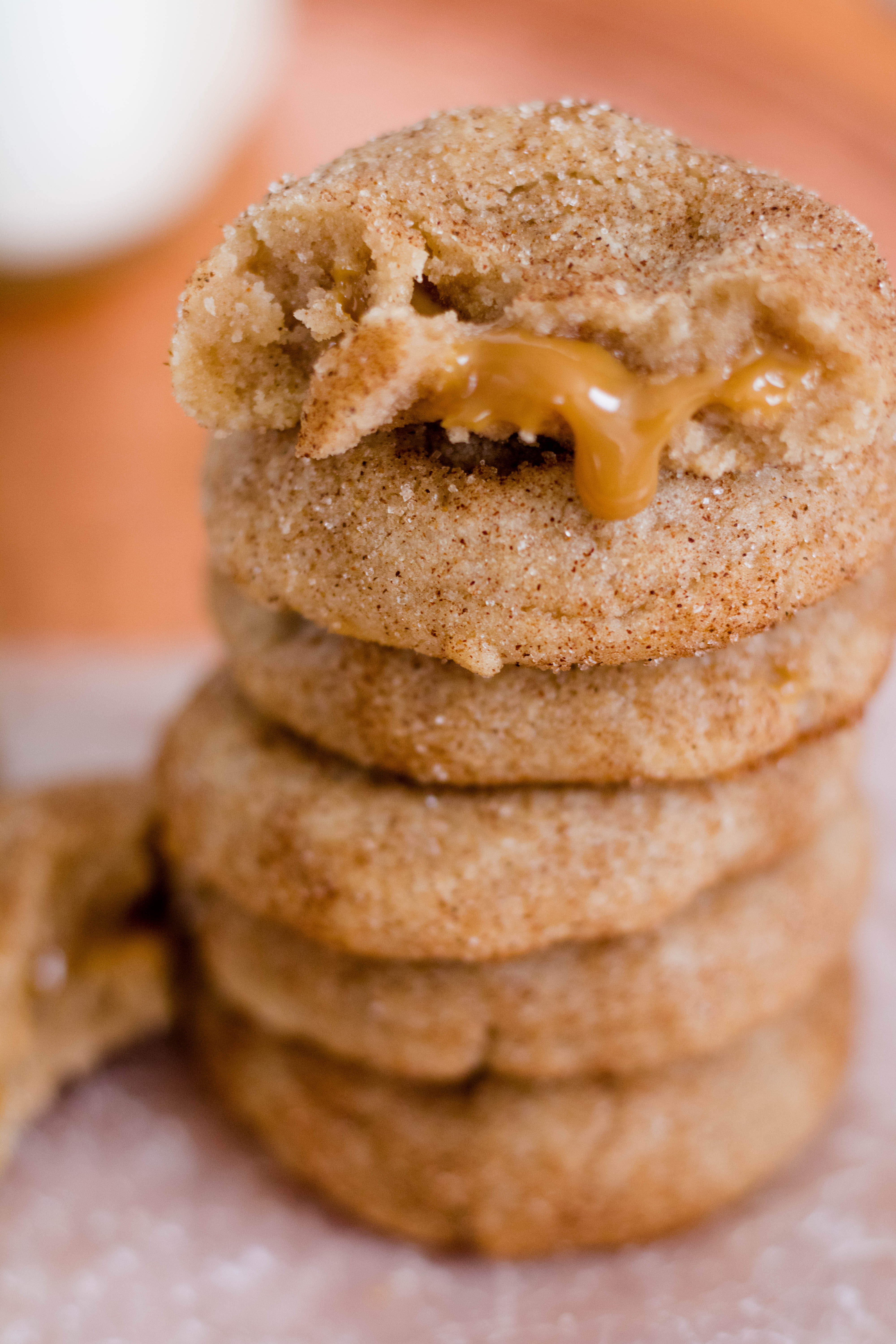 Dulce de leche stuffed Snickerdoodle cookie for Christmas