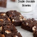 Healthy vegan double chocolate brownies Pinterest