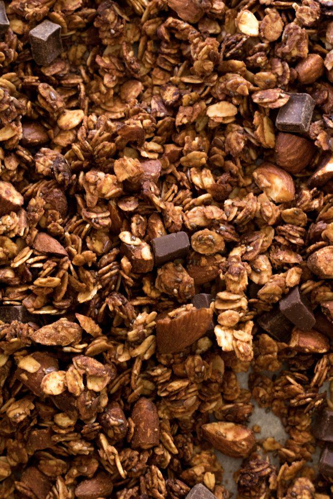 healthy double chocolate granola