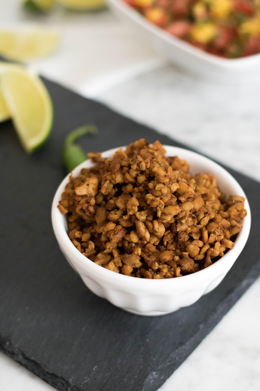 Vegan Tempeh Taco Meat