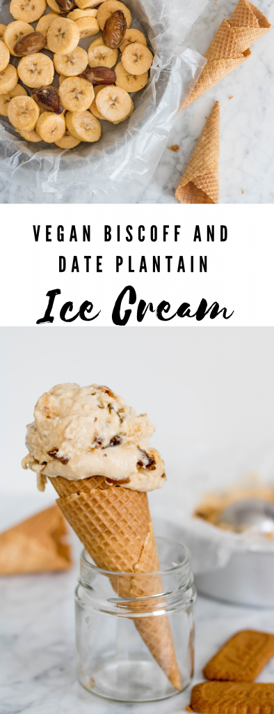 Vegan Biscoff and Date Plantain Ice Cream