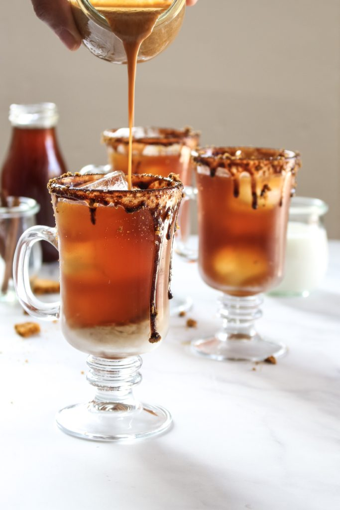 Creamed pumpkin spiced iced coffee for the pumpkin recipe collection