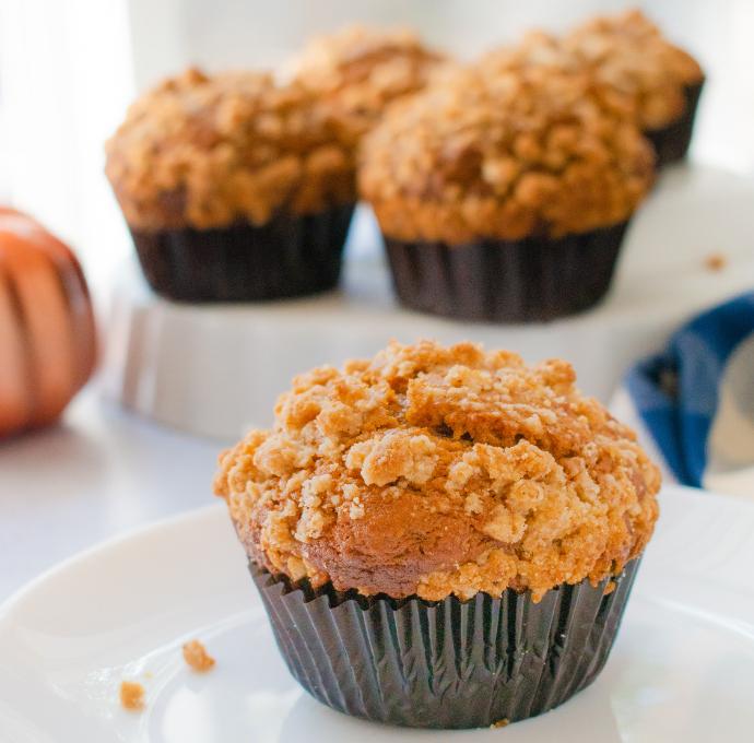 Pumpkin Streusel muffins for the 24 days of pumpkin recipes