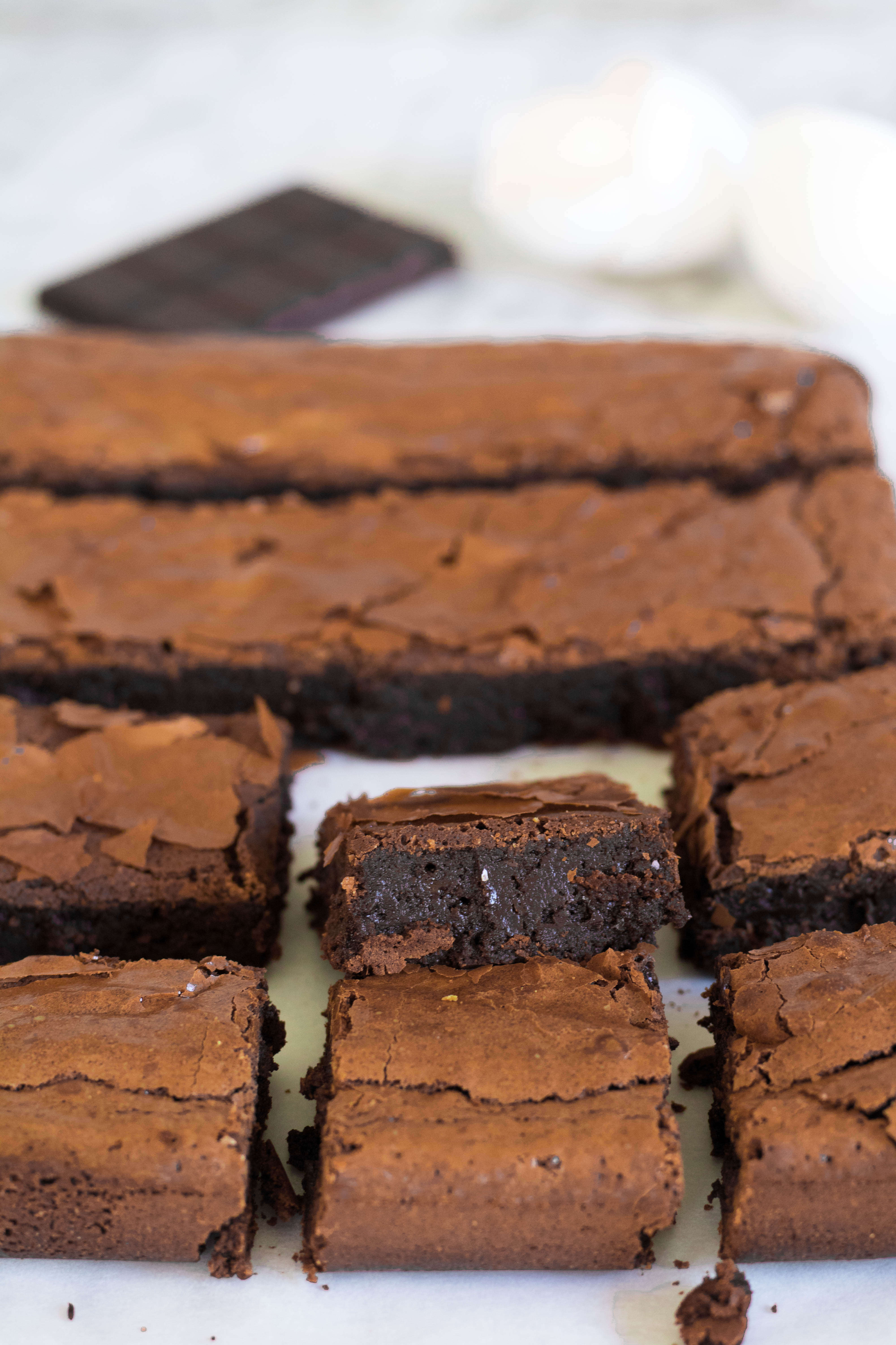 Rich brownies with a dense center