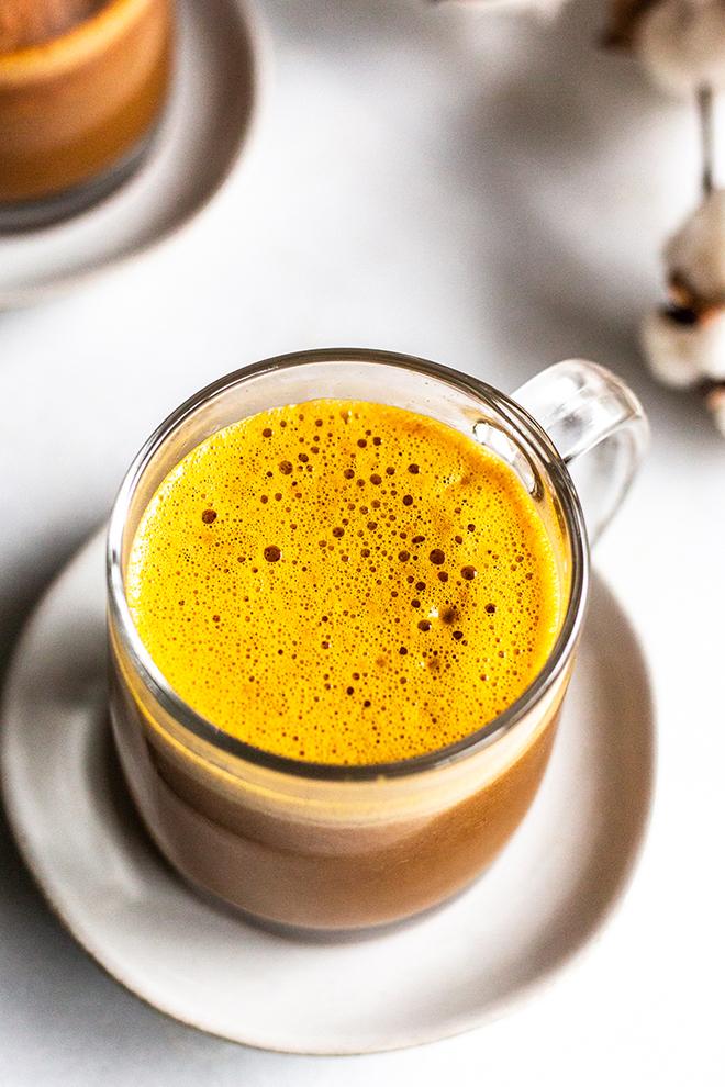 Pumpkin Chai blender latte by miss allie's kitchen for the 24 days of pumpkin recipes