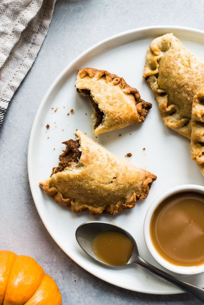 Pumpkin empanada hand held pies from isabelleeats for the 24 days of pumpkin recipes colleciton