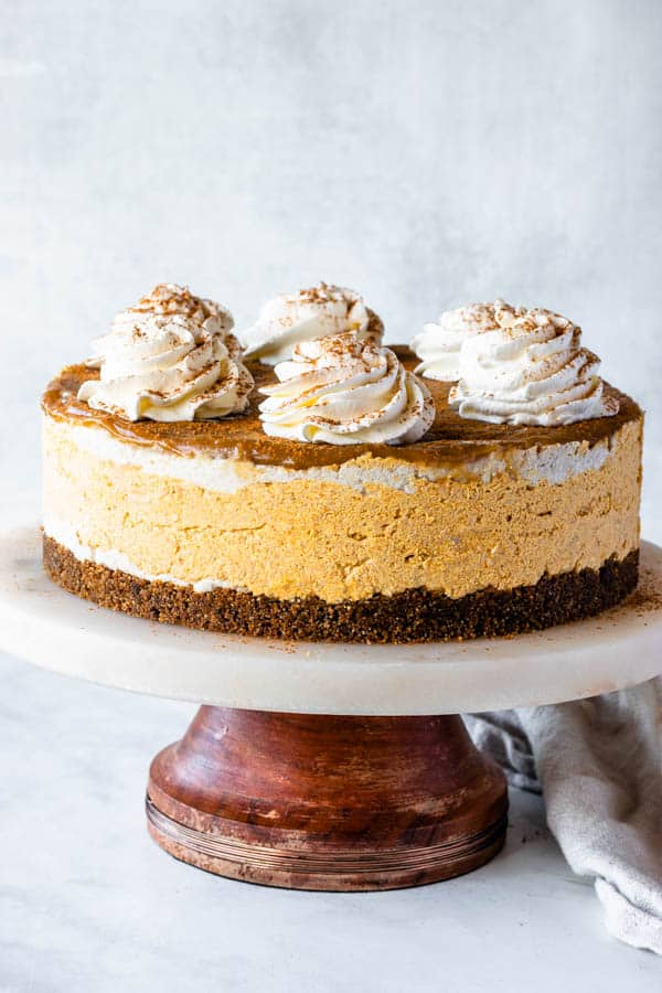 Huge vegan pumpkin cheese cake