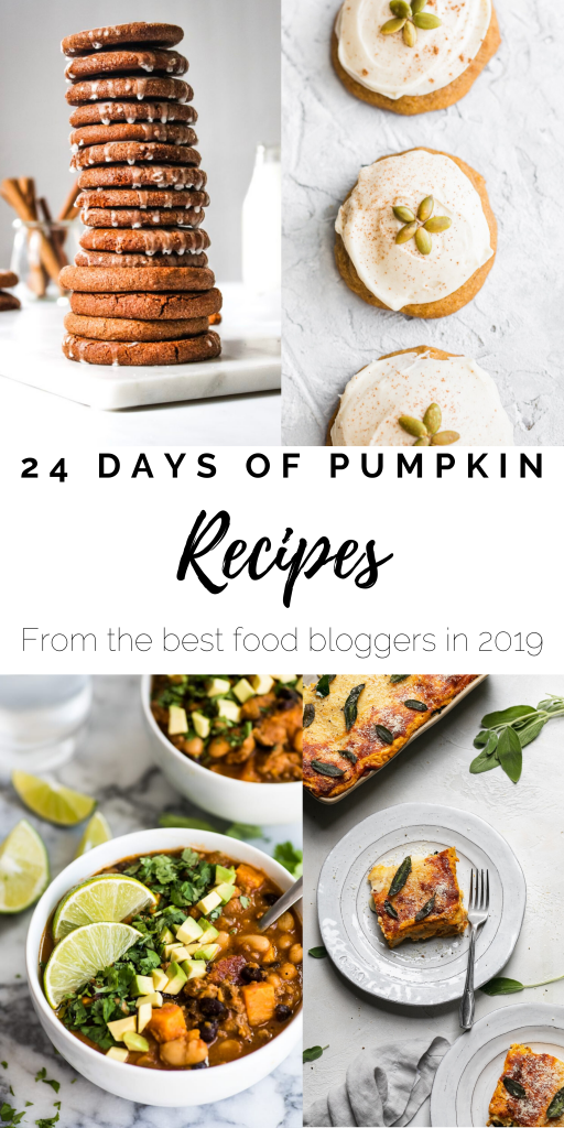 24 days of pumpkin recipe collection