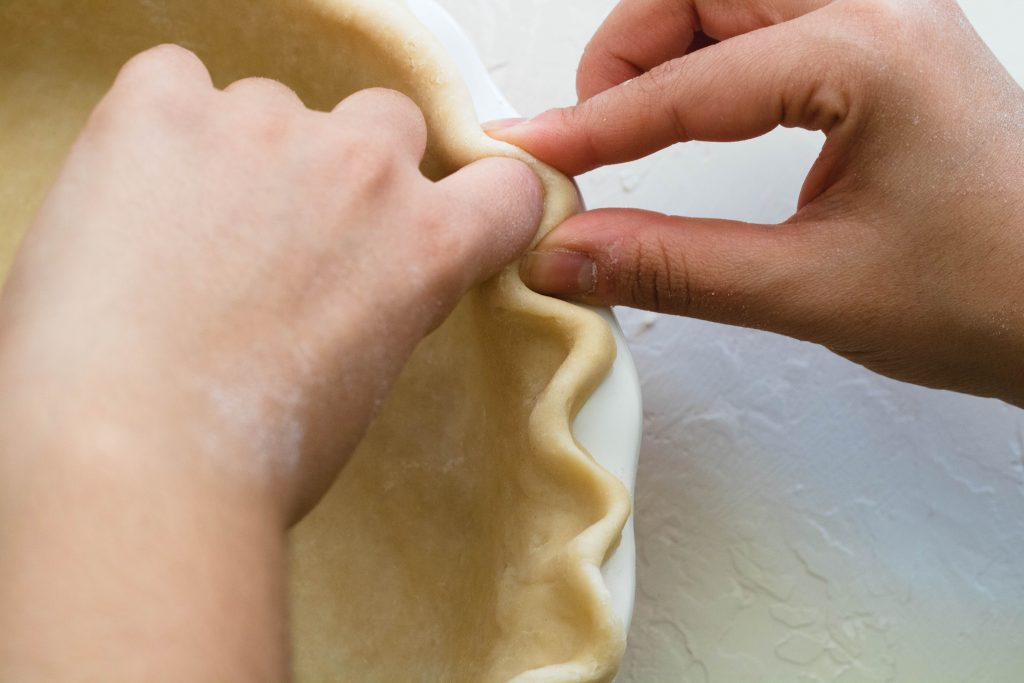 How to flute pie crust if you have long nails?