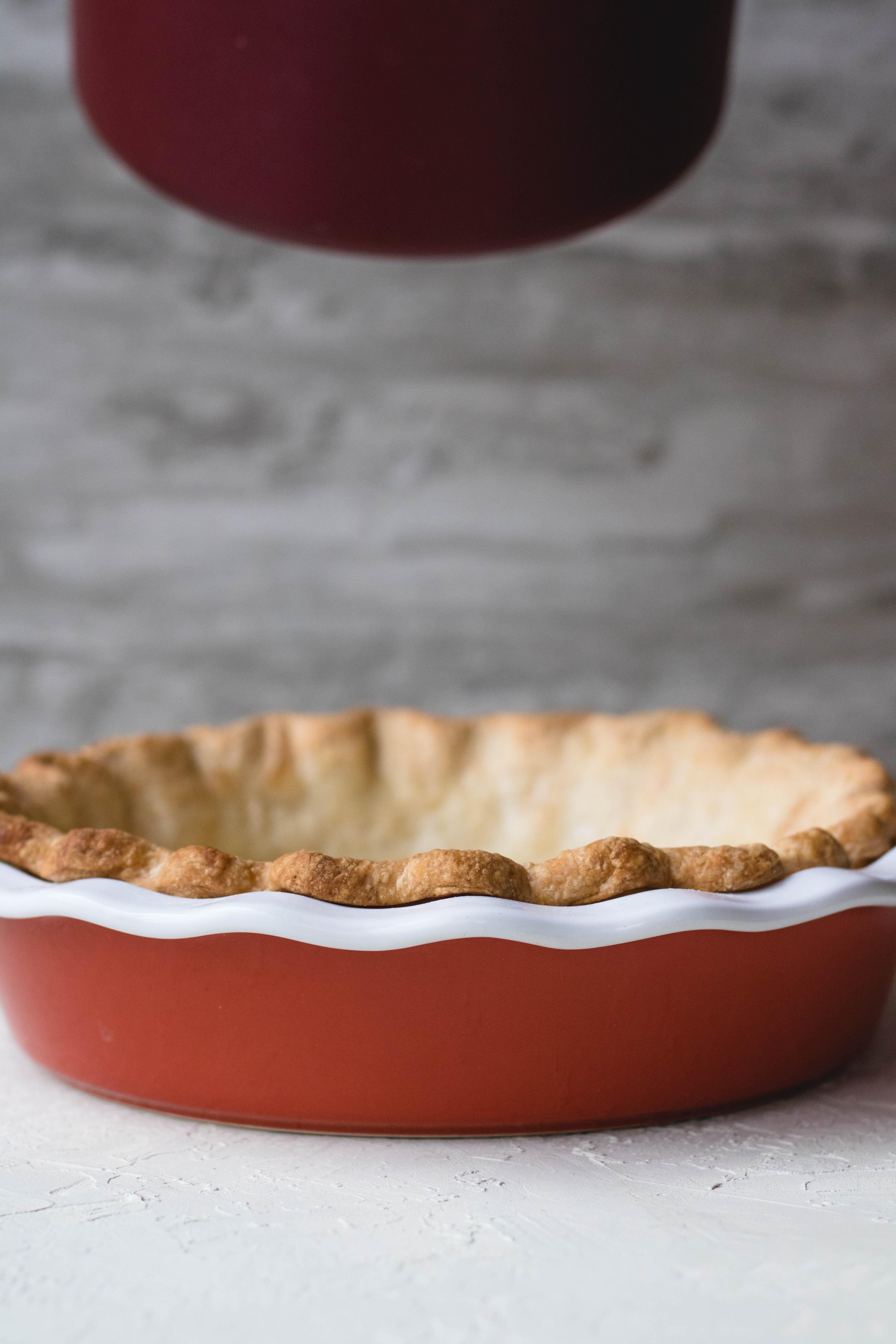 Golden brown pie crust for homemade buttery pie crust recipe