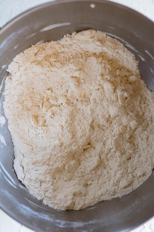 Pea sized bits of fat for pie crust recipe