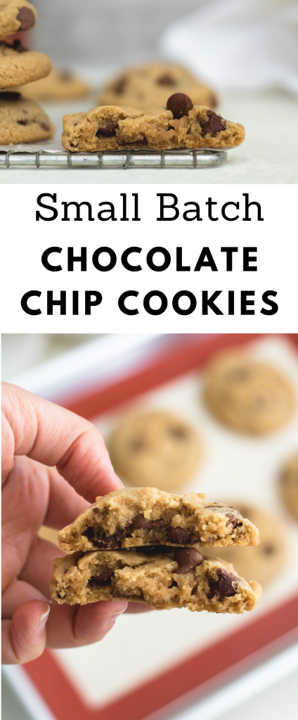 Small batch chocolate chip cookies collage for pinterest