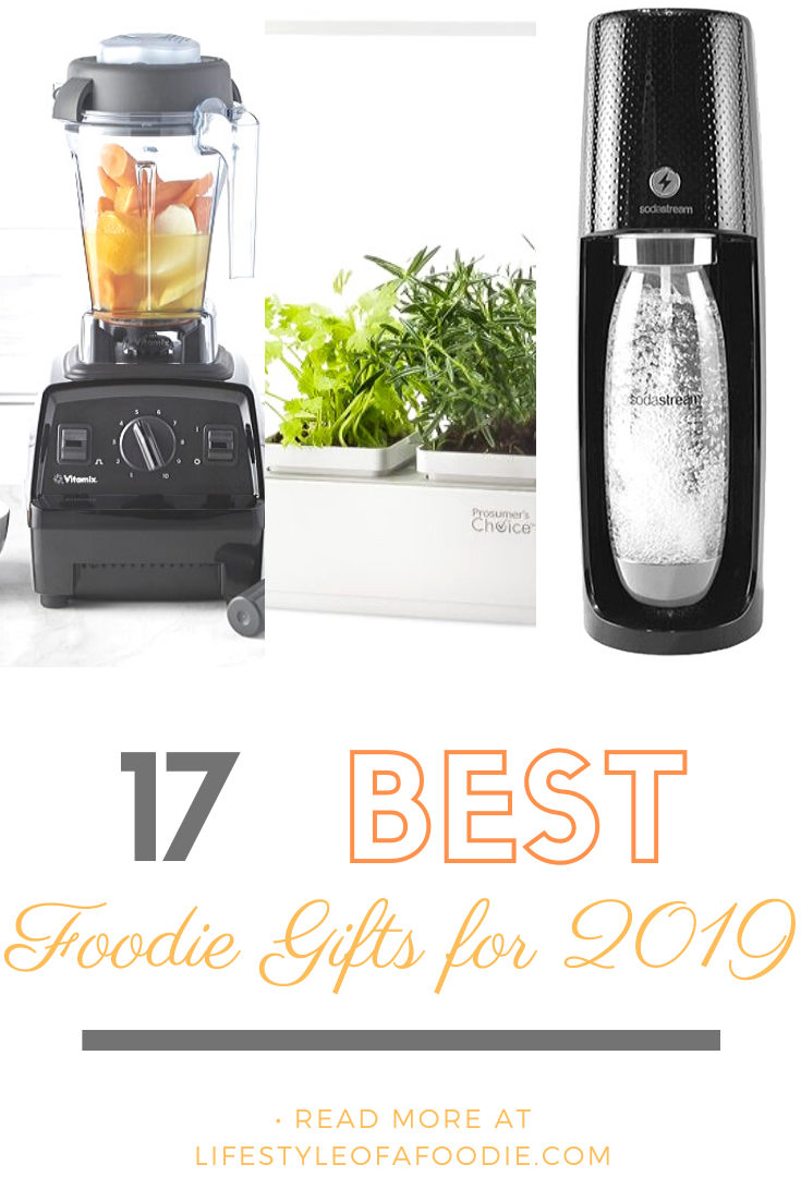 Pinterest collage for the 17 best foodie gifts for 2019