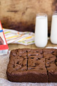 Sliced giant brownies