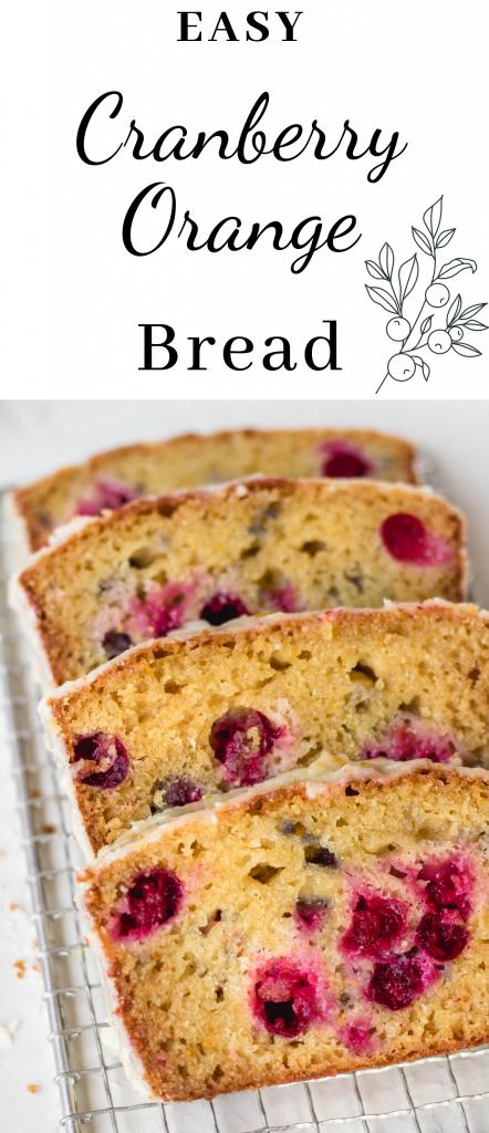 Easy cranberry orange bread recipe