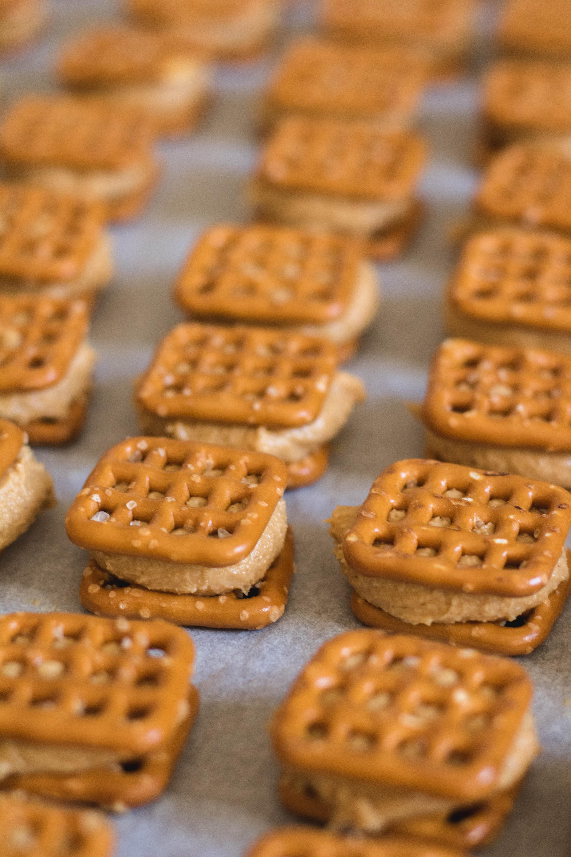 Delicious peanut butter buckeye pretzel bites