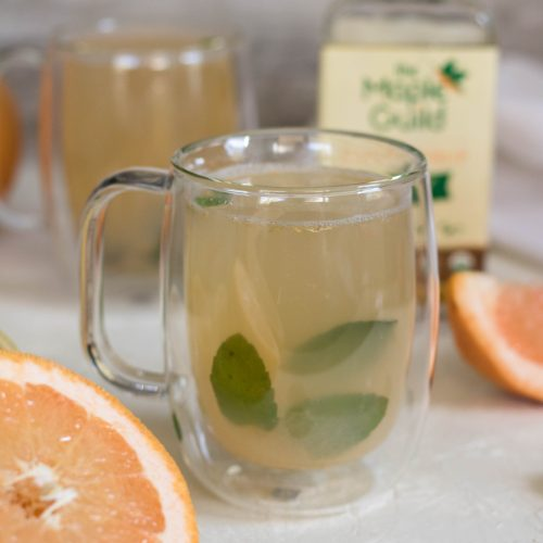 Enjoy detox mint grapefruit tea