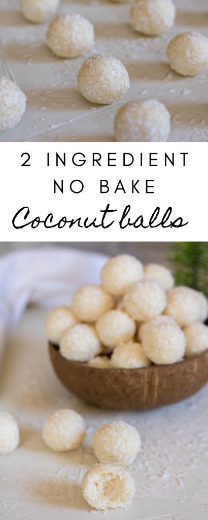 2 ingredient no bake coconut holiday balls