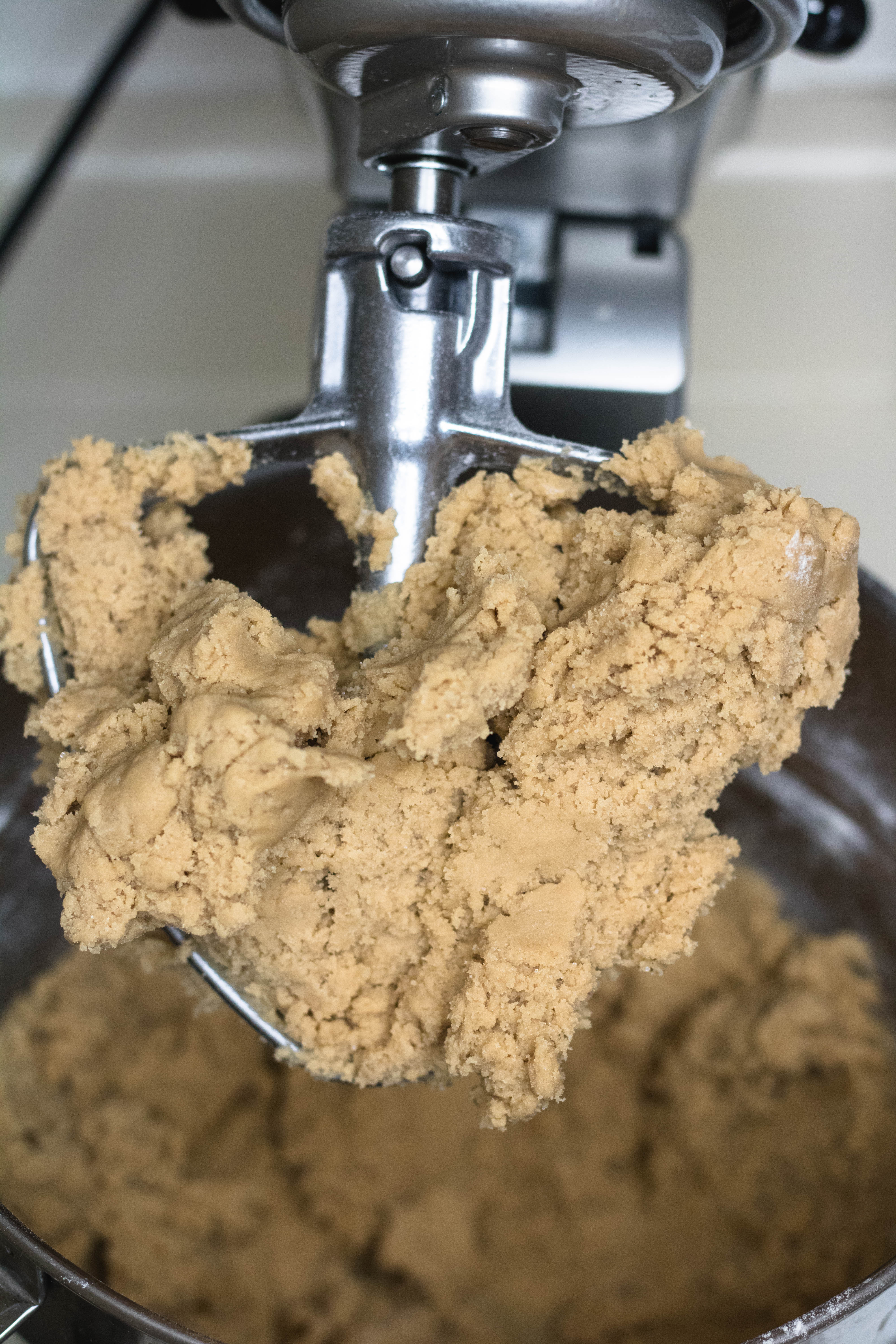 Cookie dough before adding the chocolate chips