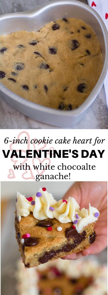 Heart Valentine's Day Cookie Cake