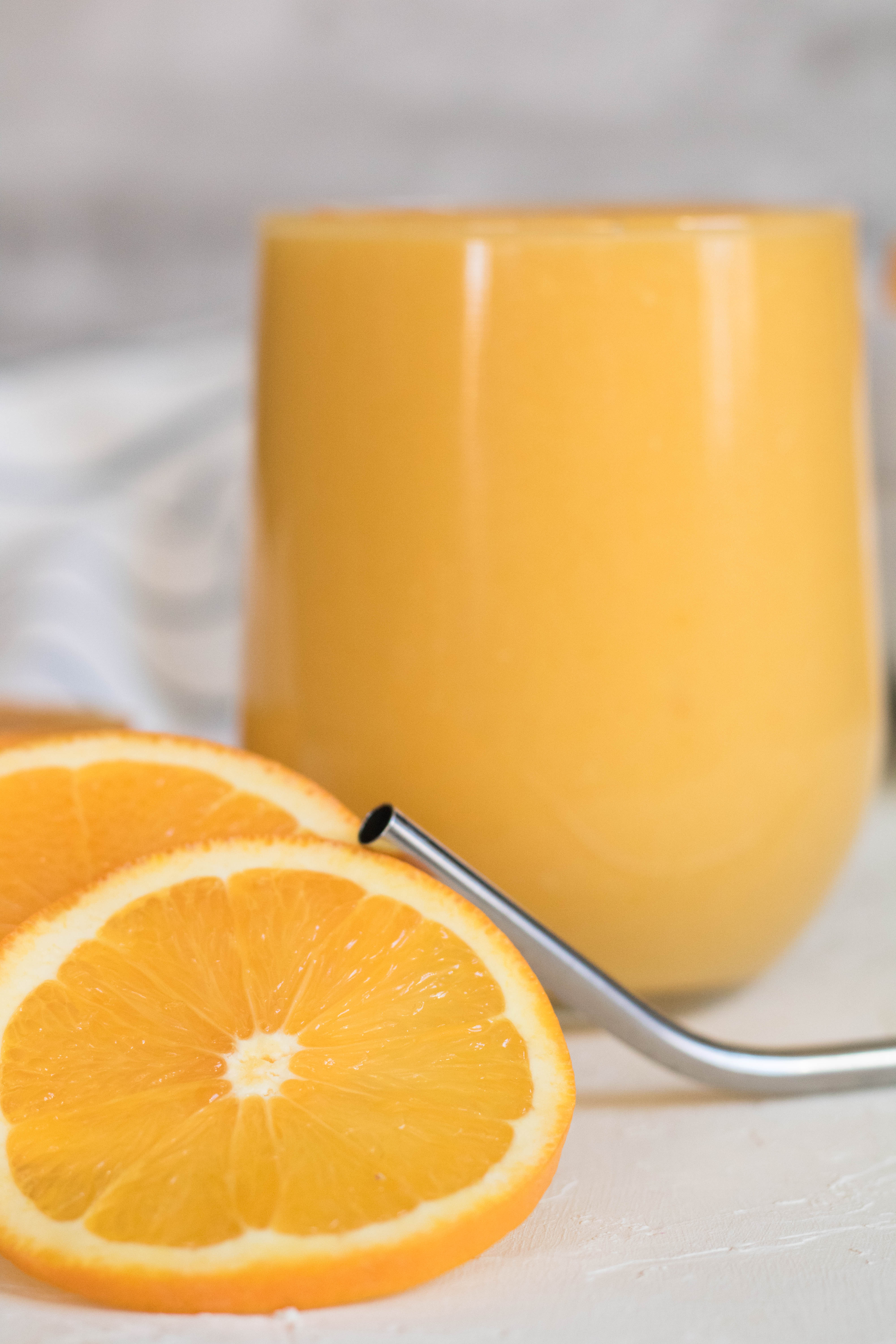 Orange slices for immunity boosting smoothie