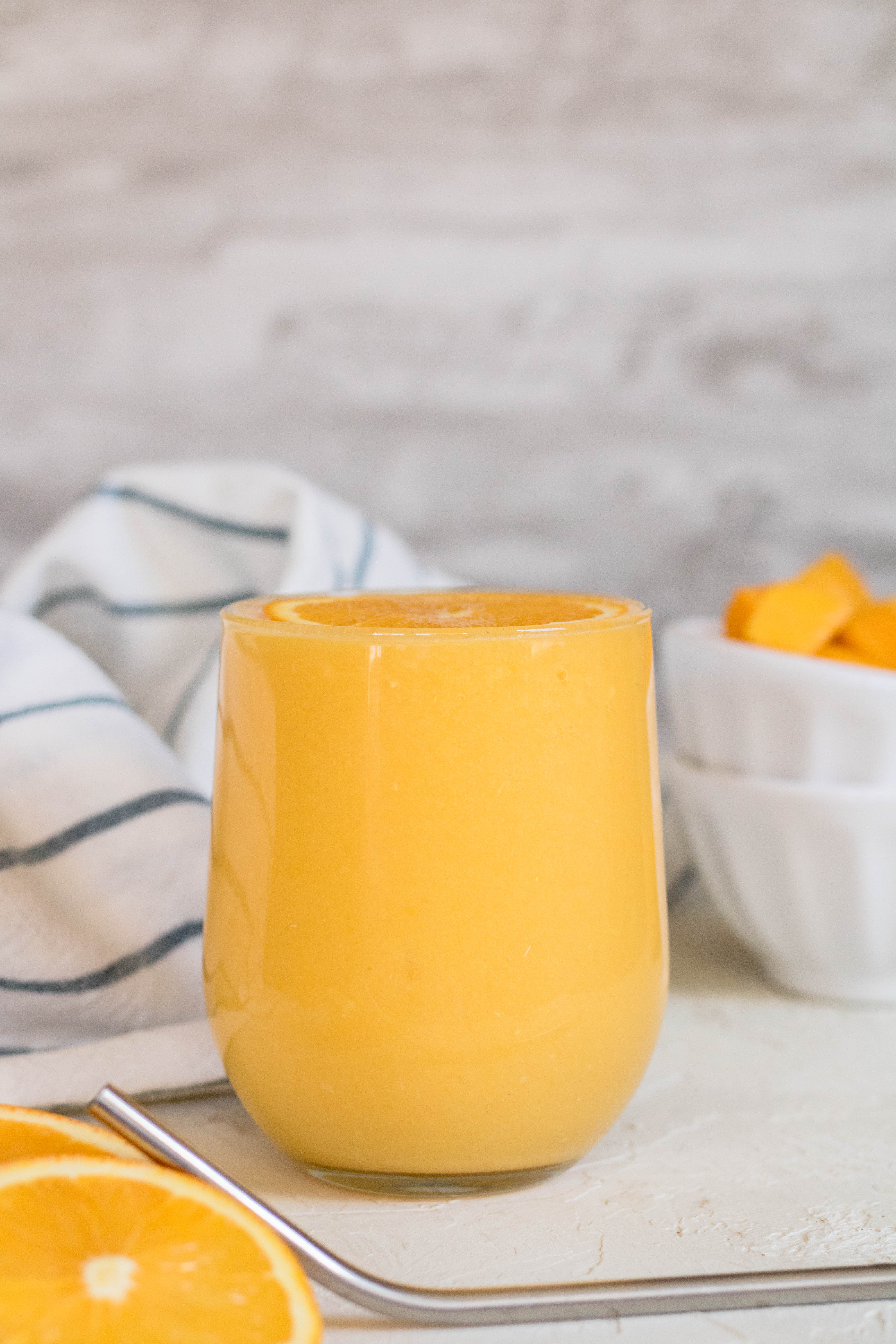 Healthy mango orange smoothie