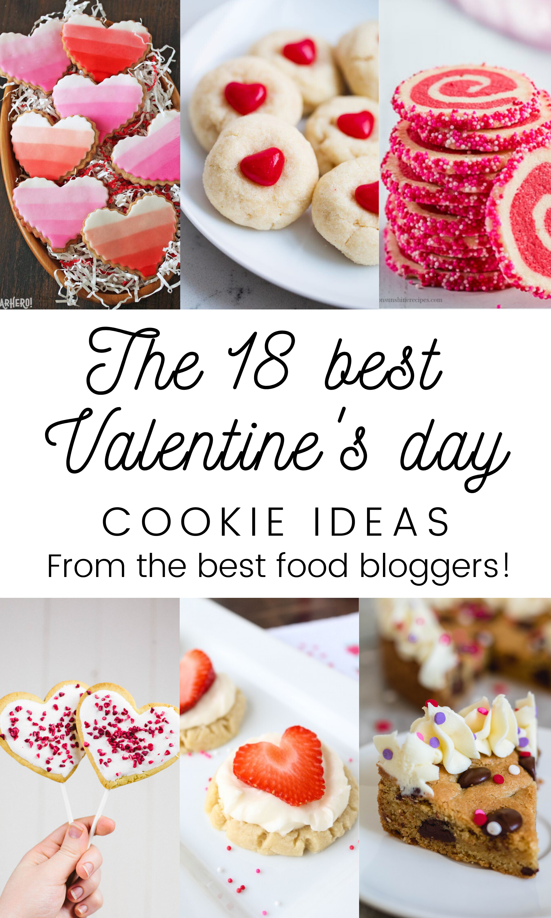 Best valentine's day cookie ideas collage for pinterest