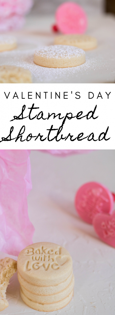 stamped shortbread cookies for valentine's