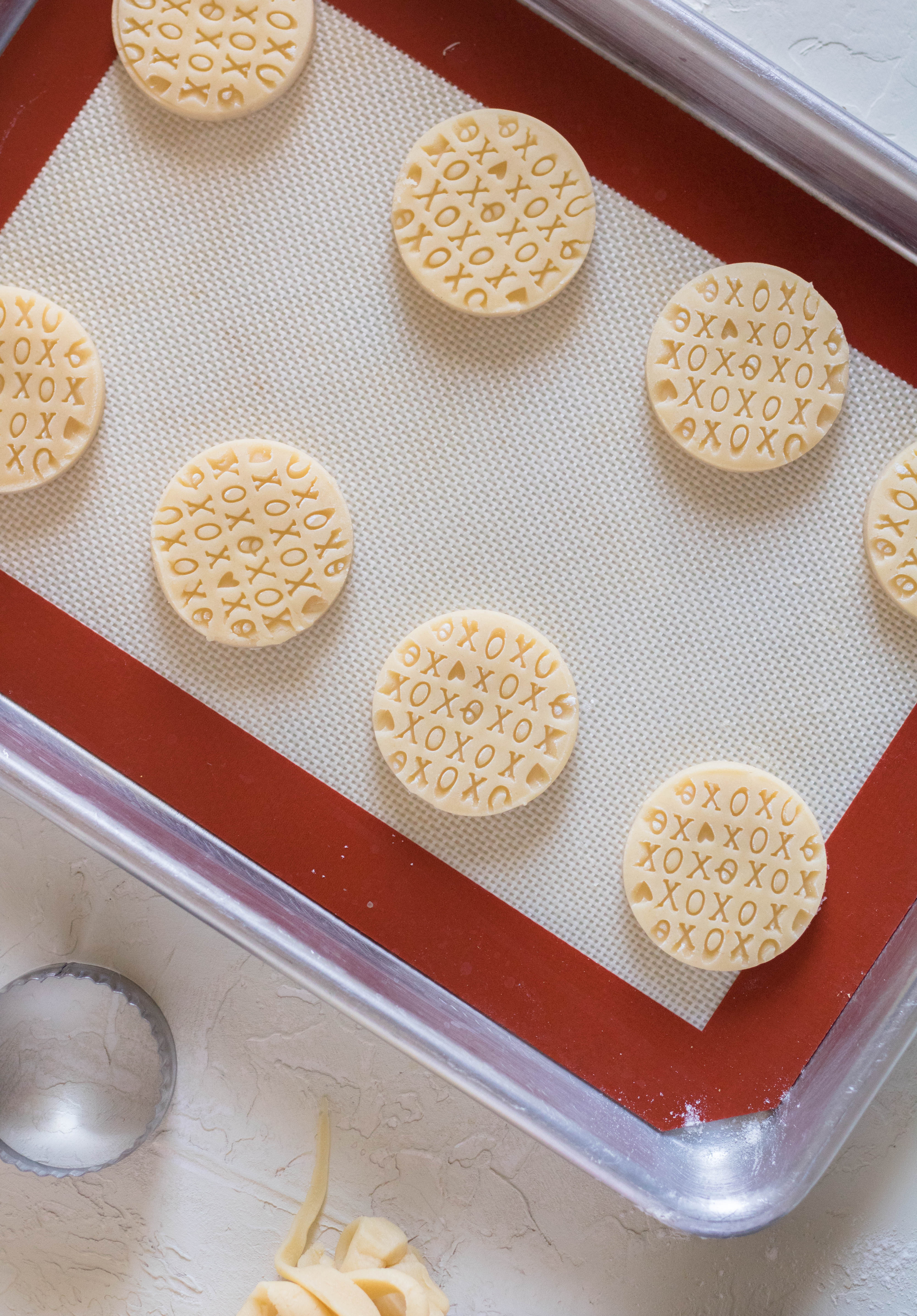 XOXO shortbread cookies