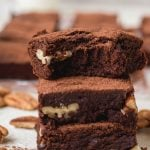 Brownies with cocoa powder super chewy