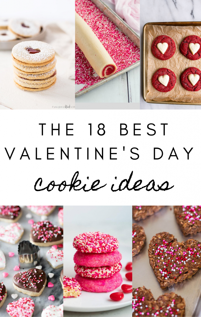 18 best valentine's day cookie ideas for pinterest collage
