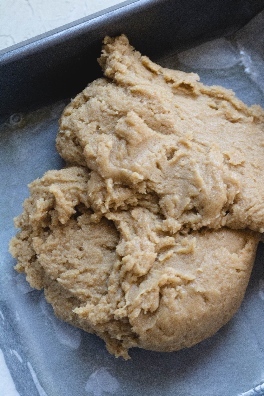 brown butter blondies dough
