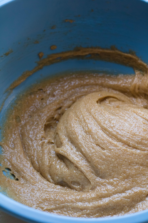 brown butter blondies mixed