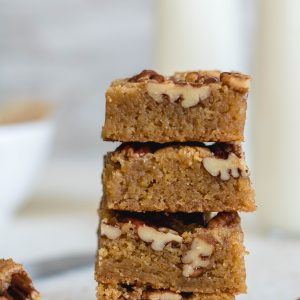 Delicious brown butter pecan blondies