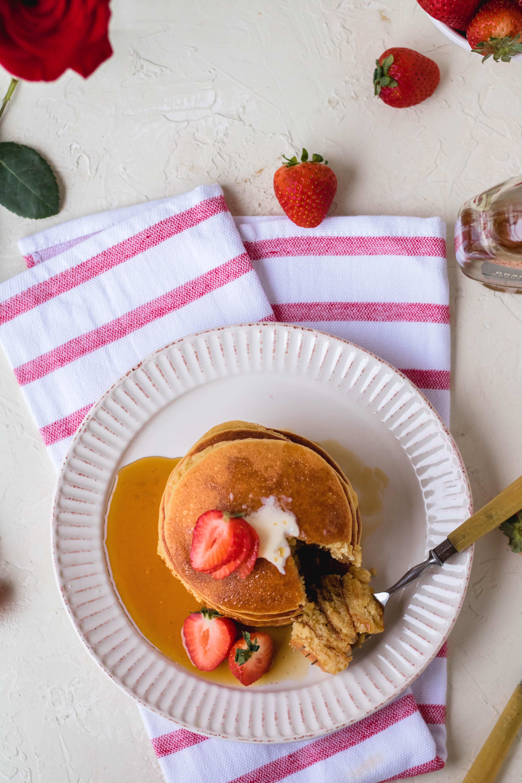 The world's best fluffy almond flour pancakes