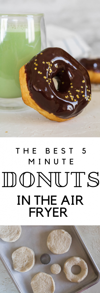 Air fryer donuts in less than 10 minutes