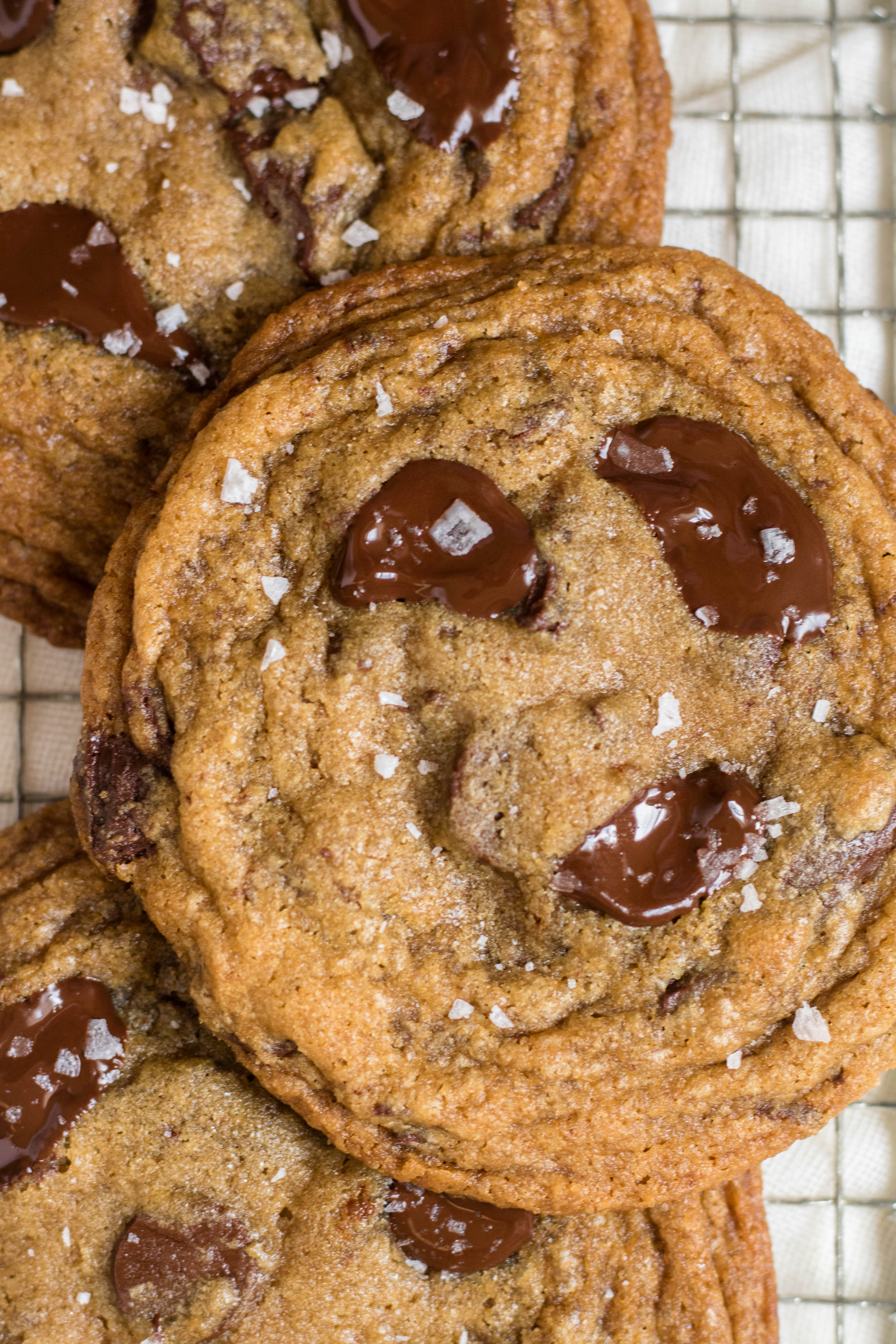 Chewy espresso chocolate chip cookies