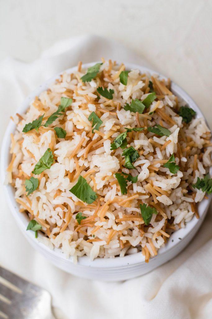 Lebanese stovetop rice pilaf recipe