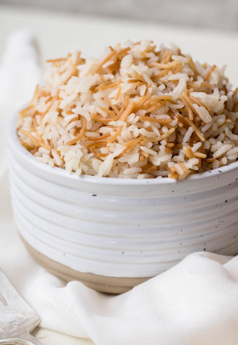 Lebanese rice pilaf with vermicelli and cinnamon