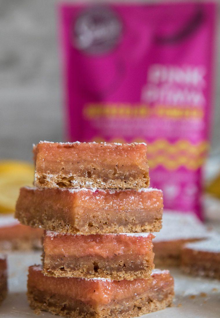 The best pink lemon bars!